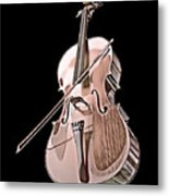 Cello String Music Instrument Musician Color Designed Metal Print