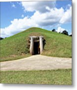 Indian Mound At Ocmulgee National Monument 1 Metal Print