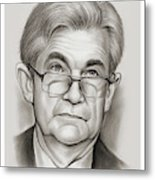 Chairman Powell Metal Print