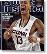Champs Uconns Impossible Journey From The Brink Of The Sports Illustrated Cover Metal Print