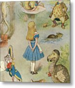 Characters From Alice In Wonderland  Metal Print