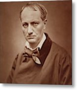 Charles Baudelaire, French Poet, Portrait Photograph  Metal Print