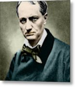 Charles Baudelaire, French Writer, Photo Metal Print