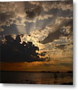 Cheboygan Lakeside Sunset Metal Print