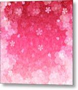 Cherry Plum Greeting Cards Metal Print