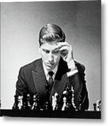 Chess Champion Robert J. Fisher Playing Metal Print