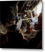Chhungsi Cave From The Inside, Mustang Metal Print