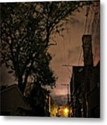 Chicago Alley At Night Metal Print