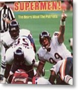 Chicago Bears Dan Hampton, Super Bowl Xx Sports Illustrated Cover Metal Print