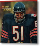 Chicago Bears Dick Butkus, 1970 Nfl Football Preview Issue Sports Illustrated Cover Metal Print