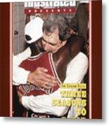 Chicago Bulls Coach Phil Jackson And Michael Jordan, 1993 Sports Illustrated Cover Metal Print