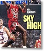 Chicago Bulls Michael Jordan, 1988 Nba Eastern Conference Sports Illustrated Cover Metal Print