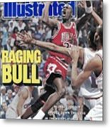 Chicago Bulls Michael Jordan, 1989 Nba Eastern Conference Sports Illustrated Cover Metal Print