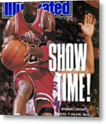 Chicago Bulls Michael Jordan, 1990 Nba Eastern Conference Sports Illustrated Cover Metal Print