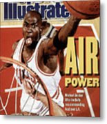 Chicago Bulls Michael Jordan, 1991 Nba Finals Sports Illustrated Cover Metal Print