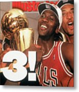 Chicago Bulls Michael Jordan, 1993 Nba Finals Sports Illustrated Cover Metal Print
