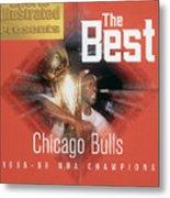 Chicago Bulls Michael Jordan, 1996 Nba Finals Sports Illustrated Cover Metal Print
