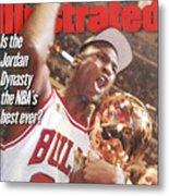 Chicago Bulls Michael Jordan, 1997 Nba Finals Sports Illustrated Cover Metal Print
