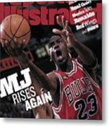 Chicago Bulls Michael Jordan, 1998 Nba Finals Sports Illustrated Cover Metal Print