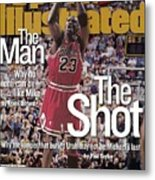 Chicago Bulls Michael Jordan, 1998 Nba Finals Sports Illustrated Cover Metal Print