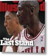 Chicago Bulls Michael Jordan And Scottie Pippen, 1998 Nba Sports Illustrated Cover Metal Print