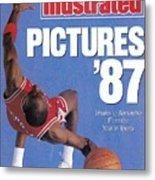 Chicago Bulls Michael Jordan Sports Illustrated Cover Metal Print