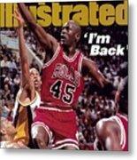 Chicago Bulls Michael Jordan... Sports Illustrated Cover Metal Print