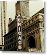 Chicago Cinema Theater - Vintage Photo Art Metal Print