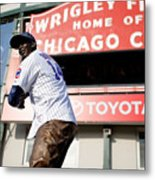 Chicago Cubs Fans Watch Wild Card Game Metal Print