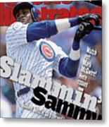 Chicago Cubs Sammy Sosa... Sports Illustrated Cover Metal Print
