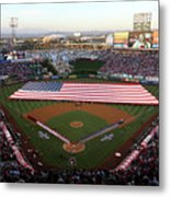 Chicago Cubs V Los Angeles Angels Of Metal Print