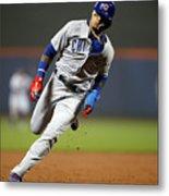 Chicago Cubs V New York Mets Metal Print