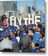 Chicago Cubs Victory Celebration Metal Print