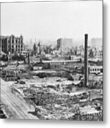 Chicago Fire Of 1871 Metal Print