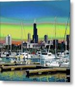 Chicago Marina Metal Print