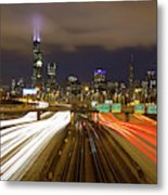 Chicago Skyline South Side View Metal Print