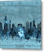 Chicago Skyline Vintage 4 Metal Print