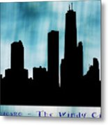 Chicago The Windy City Metal Print