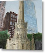 Chicago Water Tower 1a Metal Print