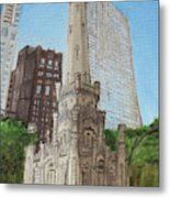 Chicago Water Tower 1c Metal Print