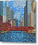 Chicago Wells Street Bridge 2 Metal Print
