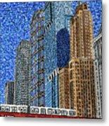Chicago Wells Street Bridge Metal Print