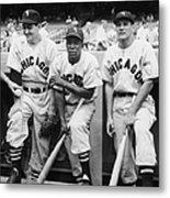 Chicago White Sox At Yankee Stadium Metal Print