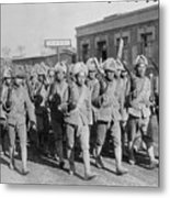 Chinese Soldiers Marching With Weapons Metal Print