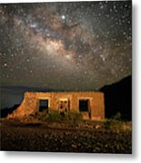Chisos Mountain Homestead Under The Milky Way Metal Print