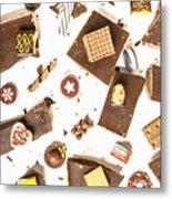 Chocolate Bar Break Metal Print