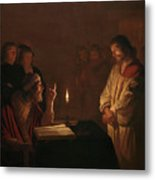 Christ Before The High Priest, 1617 Metal Print