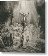 Christ Crucified Between The Two Thieves   The Three Crosses          Metal Print
