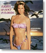 Christie Brinkley Swimsuit 1981 Sports Illustrated Cover Metal Print
