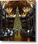 Christmas At The Ak Lodge Metal Print